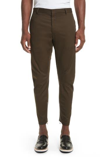 Lanvin Round Cut Cotton Biker Pants