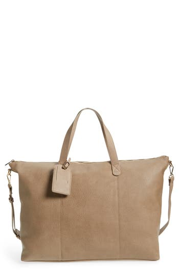 Sole Society Candice Oversize Travel Tote - Beige