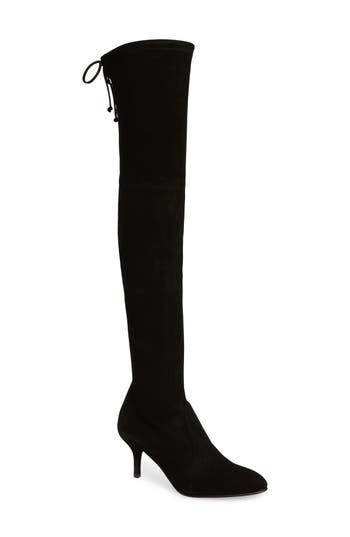 Stuart Weitzman Tiemodel Over The Knee Stretch Boot- Black