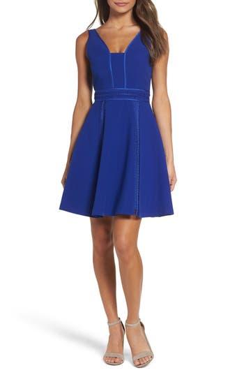 Adelyn Rae Gayle Fit & Flare Dress, Blue