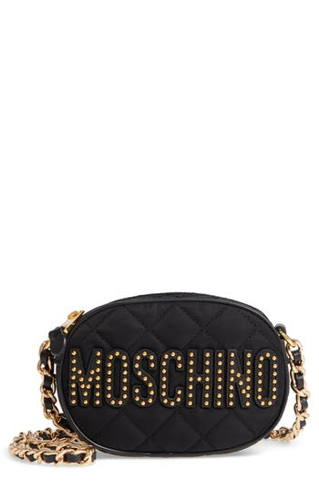 Moschino Small Quilted Camera Bag -