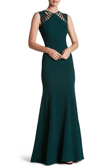Dress The Population Harlow Crepe Gown, Green