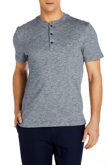 Lacoste Henley T-Shirt, (4xl) - Grey