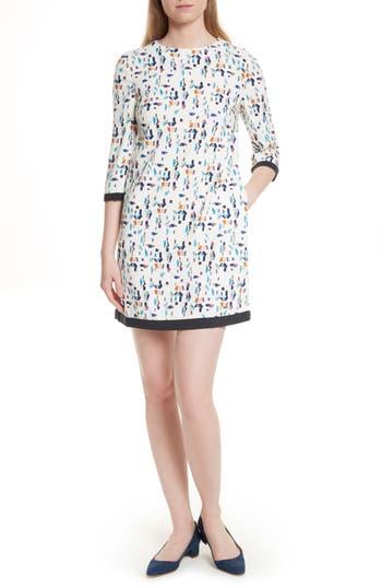 Ted Baker London Limina Print Shift Dress, Ivory