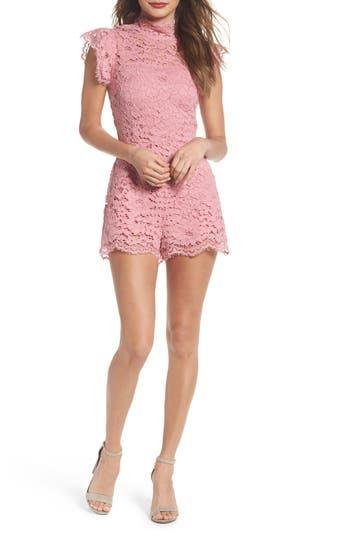 Bb Dakota Lace Romper, Pink