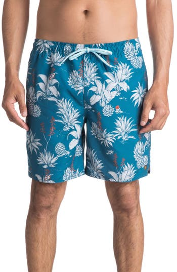 Quiksilver Waterman Collection Agavy Volley Shorts, Blue