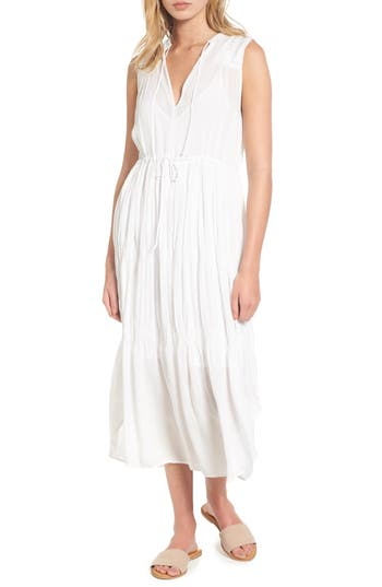 James Perse Pleated A-Line Dress, White