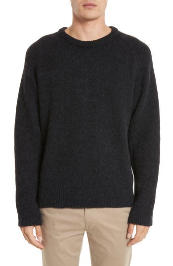 Our Legacy Wool Blend Crewneck Sweater, Black