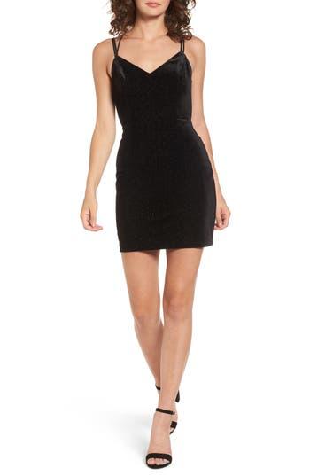 Lush Strappy Body-Con Dress, Black