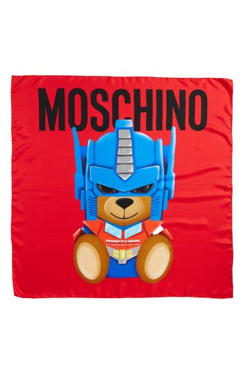 Women's Moschino Transformers Print Silk Scarf, Size One Size - Red