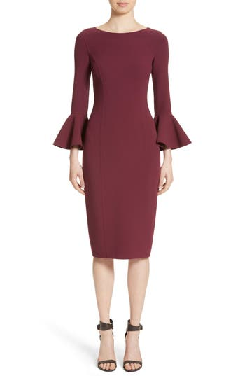 Michael Kors Bell Cuff Sheath Dress, Red