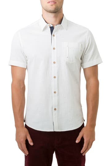 7 Diamonds Mystic Traveler Woven Shirt, White