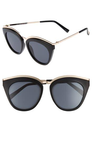 Le Specs Eye Slay 52Mm Cat Eye Sunglasses - Black