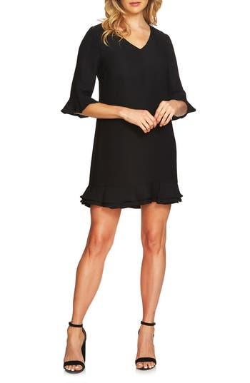 Cece Kate Ruffle Shift Dress, Black