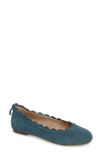 Jack Rogers Lucie Scalloped Flat, Blue/green