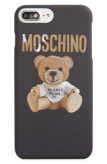 Moschino Bear Tape Iphone 6/6S Plus & 7 Plus Case - Beige