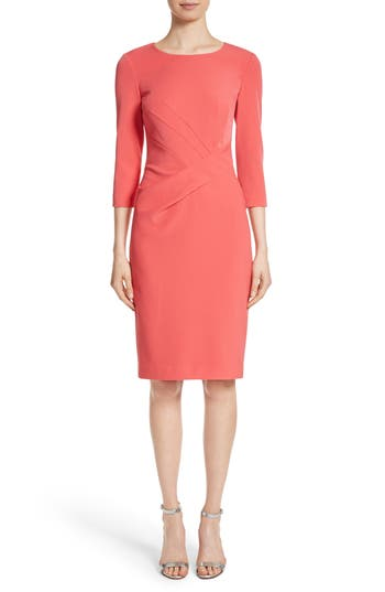St. John Collection Stretch Crepe Dress, Pink