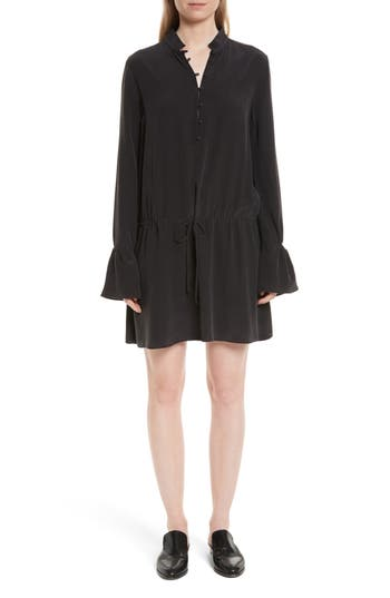 Equipment Trista Silk Dress, Black