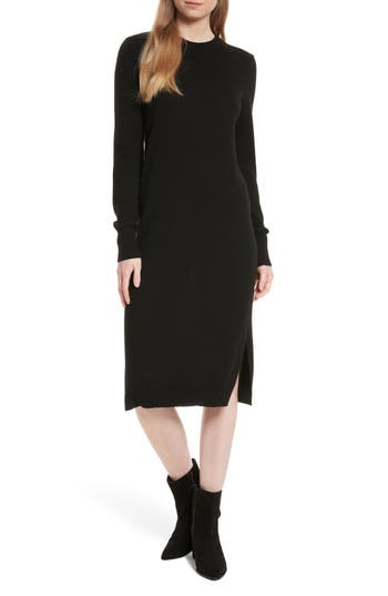 Equipment Snyder Cashmere Knit Midi Dress, Black