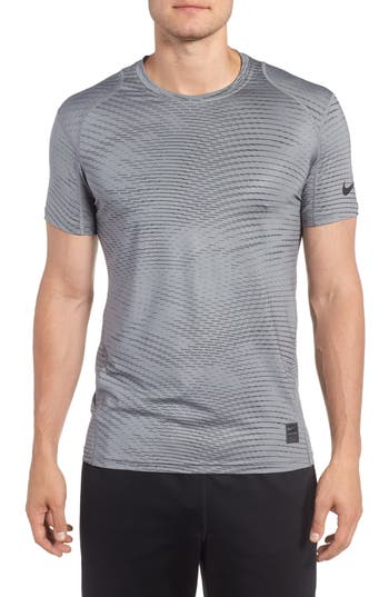 Nike Fitted Athletic T-Shirt, Grey