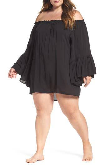 Plus Size Elan Cover-Up Dress, Size One Size - Black
