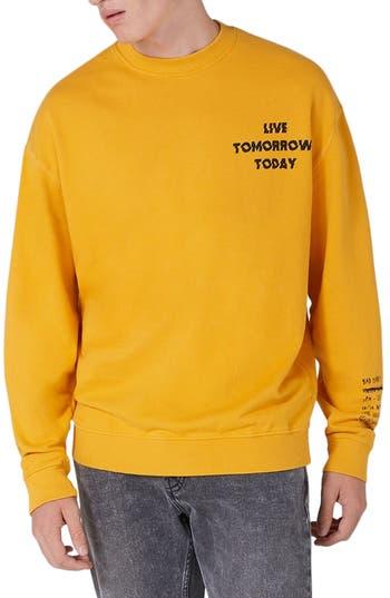 Men's Topman Legacy Graphic Crewneck Sweatshirt