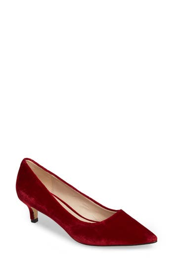 Pelle Moda Dena Pointy Toe Pump, Red