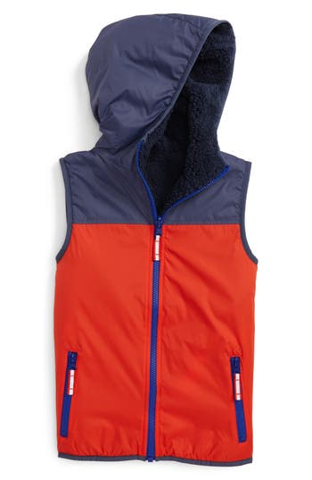 Boy's Mini Boden Cozy Reversible Vest