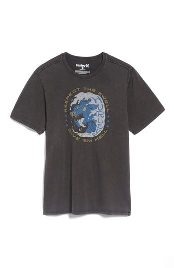 Hurley Respect The Swell T-Shirt, Black