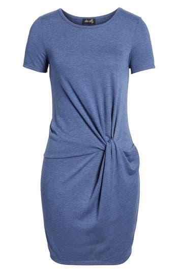 Dee Elly Knot Front Sheath Dress, Blue