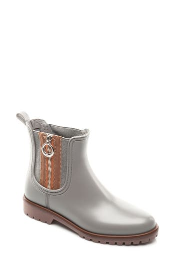 Bernardo Footwear Zip Rain Boot, Grey