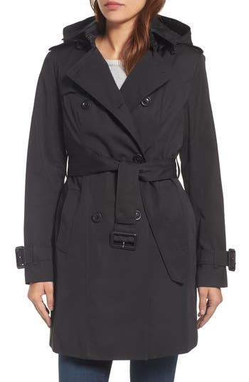 Petite Women's London Fog Heritage Trench Coat With Detachable Liner