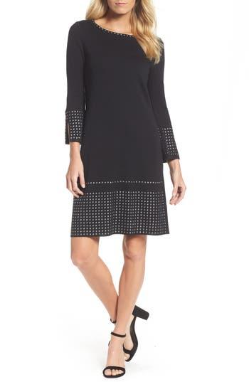 Nic+Zoe Studded Shift Dress, Black