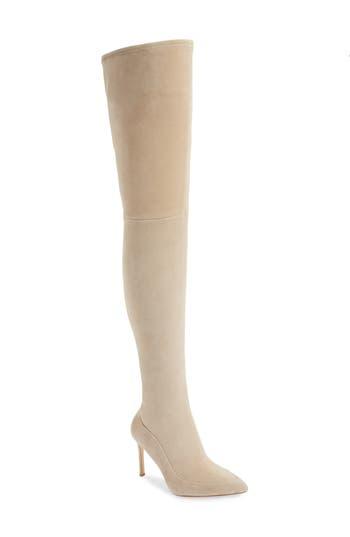 Pour La Victoire Cassie Thigh High Boot- White