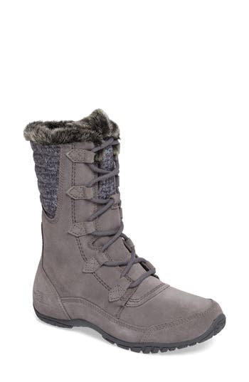 The North Face Nuptse Purna Ii Waterproof Primaloft Silver Eco Insulated Winter Boot, Grey