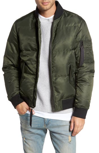 The Very Warm Quilted Down Bomber Jacket, Green