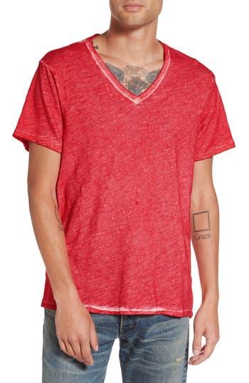 True Religion Brand Jeans V-Neck T-Shirt, Red