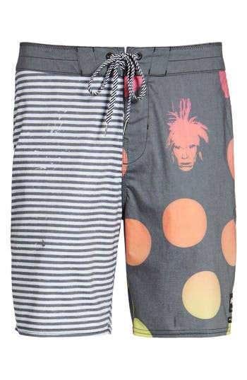 Billabong X Warhol Epi Board Shorts, Black