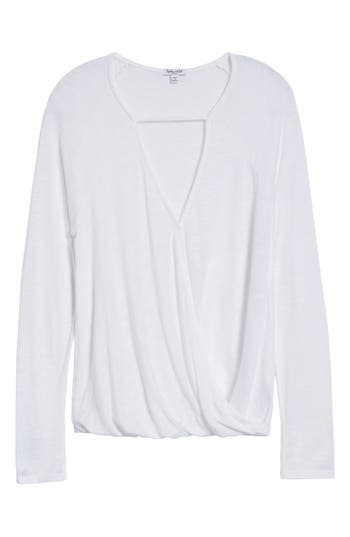 Splendid Surplice Top, White