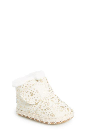 Infant Girl's Toms Tiny Cuna Faux Fur Crib Bootie