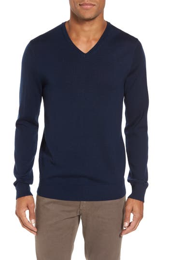 Bonobos Merino V-Neck Sweater, Blue