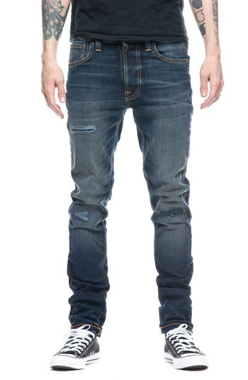 Nudie Jeans Lean Dean Slouchy Skinny Fit Jeans, Blue