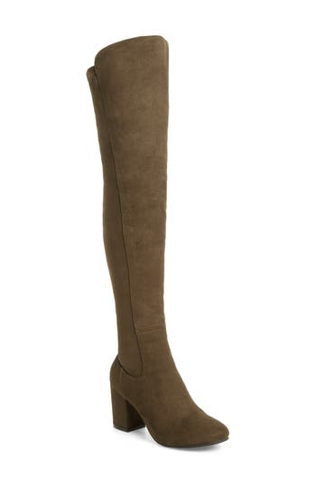 Treasure & Bond Lynx Stretch Over The Knee Boot- Green