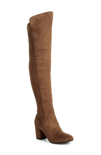 Treasure & Bond Lynx Stretch Over The Knee Boot- Beige