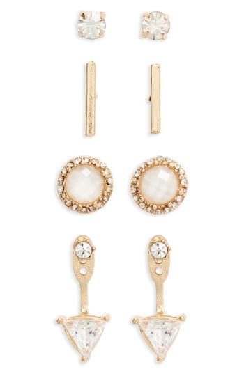 Women's Bp. 4-Pack Crystal Earrings