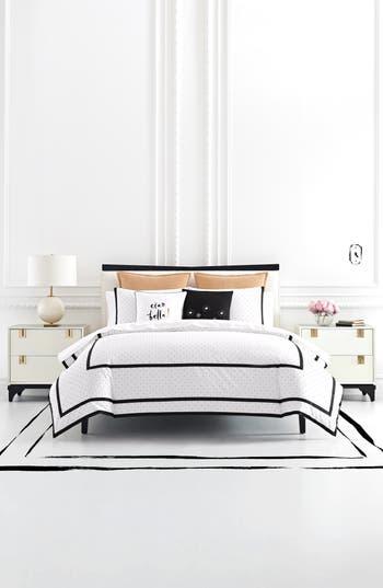 Kate Spade New York Dot Frame Comforter & Sham Set, Size King - White