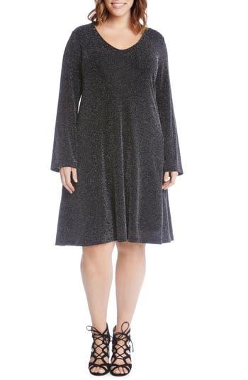 Plus Size Karen Kane Taylor Sparkle Knit Dress, Metallic