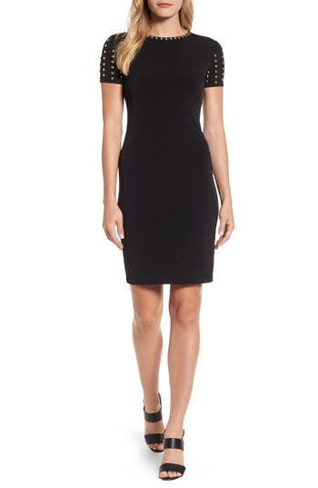 Michael Michael Kors Dome Stud Dress, Black