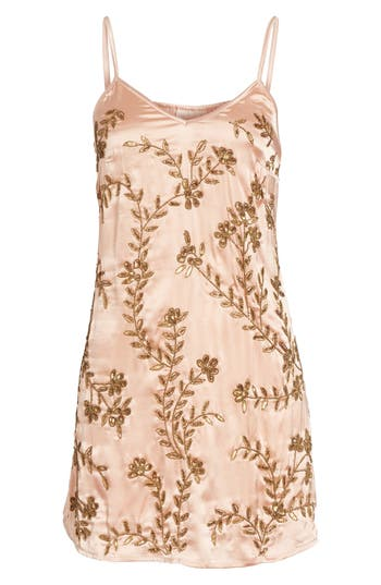 Love Like Summer X Billabong Beaded Minidress, Pink