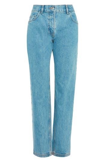 Women's Topshop Light Wash Straight Leg Jeans